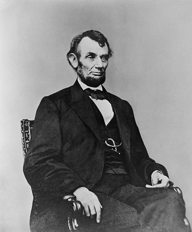 Portrait of Former President Abraham Lincoln, Five Dollar posein the Library of Congress collection. (Photo by CQ Roll Call via Getty Images)