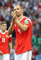 Sergey Ignashevich (Russland, Russia) bedankt sich bei den Fans - 14.06.2018: Russland vs. Saudi Arabien, Eröffnungsspiel der WM2018, Luzhniki Stadium Moskau