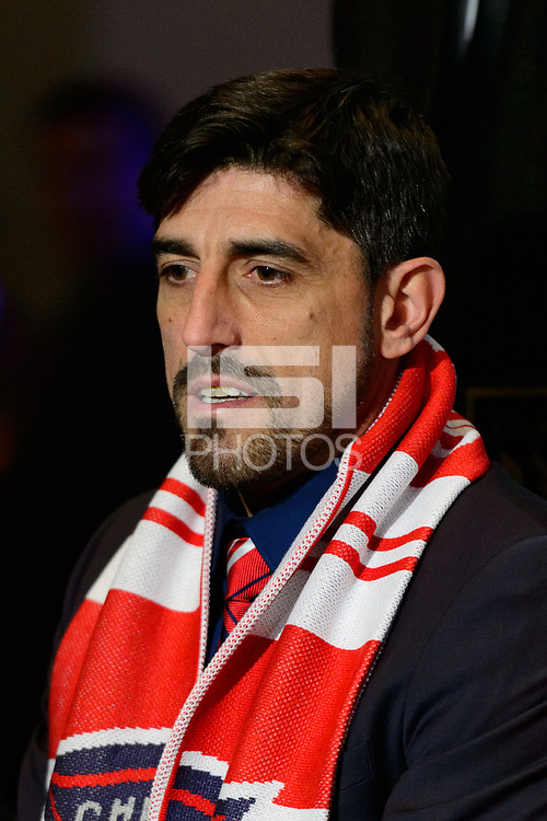 Philadelphia, PA - Friday January 19, 2018: Veljko Paunovic during the 2018 MLS SuperDraft at the Pennsylvania Convention Center.