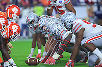 The Ohio State University football team competes at the 2016 Fiesta Bowl in Glendale, AZ. December 31, 2016<br /> (Photo by Walt Middleton Photography 2016)