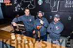 Finn Mac Donnell, Aussie Barrett and brewer Graham Murray from Dick Mack's Brewhouse, Dingle.