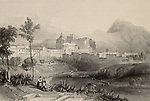 View of Normans' Royal Palace in Palermo, Italy. Drawn by W. L. Leitch, engraved by R. Sands. Published in The Shores and Islands of Mediterranean, by Fisher, Sons & Co. of London and Paris, c. 1840