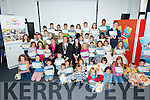 Tralee Mayor Thomas McEllistrim presents certificates at the Summer Reading Challenge in Kerry Library on Saturday