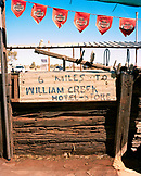 AUSTRALIA, William Creek, the Outback, board displaying William creek hotel sign