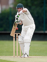 A Mitchell bats for Shepherds Bush during the Middlesex County League Division two game between Shepherds Bush and Hornsey at Bromyard Avenue, East Acton on Sat July 23, 2011