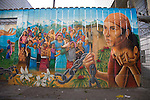 Balmy Alley offers some of the best examples of public mural painting in the Latin Mission district of San Francisco
