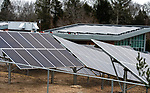 WATERTOWN,  CT-011820JS16- The newly installed solar array at Judson Elementary School in Watertown. <br /> Jim Shannon Republican-American