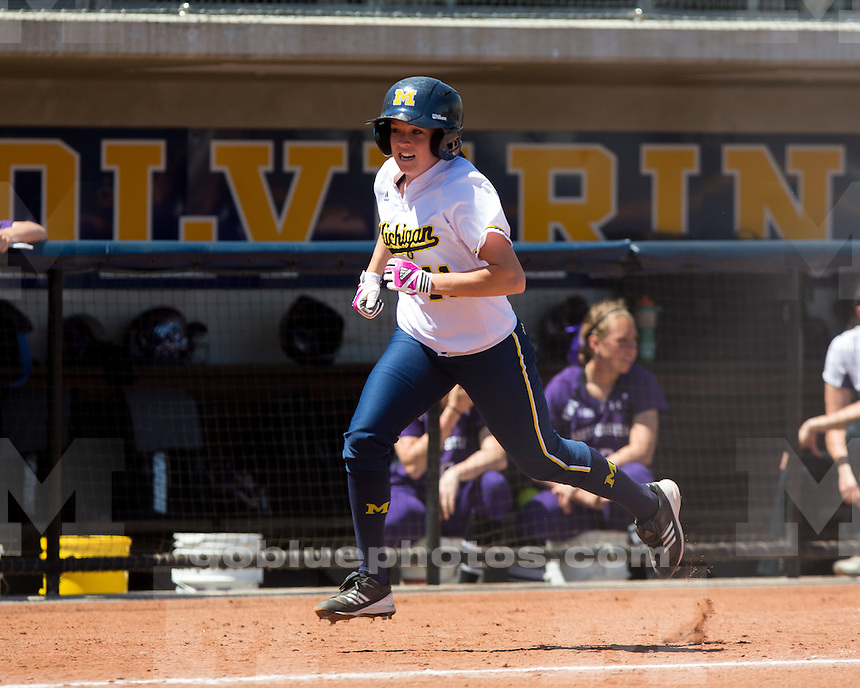 The University of Michigan softball team beat Northwestern University, 9-3, on Senior Day at the Wilpon Complex, home of Alumni Field, in Ann Arbor, Mich., on May 5, 2013.