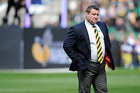 Dai Young, London Wasps Director of Rugby, looks on before the Aviva Premiership match between London Wasps and Gloucester Rugby at Twickenham Stadium on Saturday 19th April 2014 (Photo by Rob Munro)