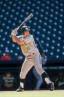Baylor Bears designated hitter Mitch Price #30 at bat during the NCAA baseball game against the California Golden Bears on March 1st, 2013 at Minute Maid Park in Houston, Texas. Baylor defeated Cal 9-0. (Andrew Woolley/Four Seam Images).