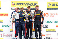 Round 10 of the 2018 British Touring Car Championship. Race three podium.