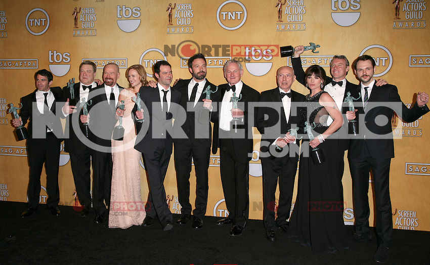 LOS ANGELES, CA - JANUARY 27: The Cast of Argo in the press room at The 19th Annual Screen Actors Guild Awards at the Los Angeles Shrine Exposition Center in Los Angeles, California. January 27, 2013. Credit: mpi27/MediaPunch Inc. /NortePhoto /NortePhoto