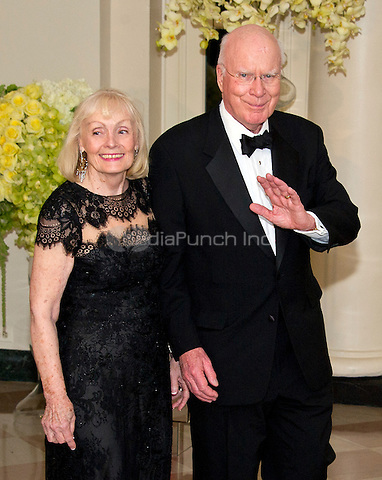 United States Senator Patrick Leahy (Democrat of Vermont) and Marcelle Leahy arrive for the State Dinner in honor of Prime Minister Trudeau and Mrs. Sophie Gr&Egrave;goire Trudeau of Canada at the White House in Washington, DC on Thursday, March 10, 2016.<br /> Credit: Ron Sachs / Pool via CNP/MediaPunch