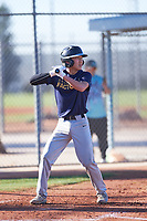 Daniel Wright (44), from East Wenatchee, Washington, while playing for the Padres during the Under Armour Baseball Factory Recruiting Classic at Red Mountain Baseball Complex on December 28, 2017 in Mesa, Arizona. (Zachary Lucy/Four Seam Images)