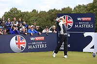 Scott Jamieson (SCO) on the 2nd tee during Round 3 of the Sky Sports British Masters at Walton Heath Golf Club in Tadworth, Surrey, England on Saturday 13th Oct 2018.<br /> Picture:  Thos Caffrey | Golffile