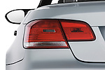 Tail light close up detail view of a 2008 BMW M3 Convertible