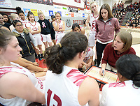Springdale's Saturday, Feb. 8, 2020, Har-Ber's during the first half of play in Bulldog Arena in Springdale. Visit nwaonline.com/prepbball/ for a gallery from the games.<br /> (NWA Democrat-Gazette/Andy Shupe)