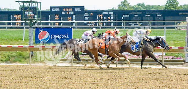 Calling for Snow winning at Delaware Park on 6/28/12
