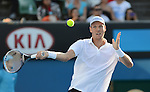 Tomas Berdych (CZE) wins at Australian Open in Melbourne Australia on 20th January 2013