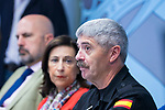 Lieutenant general of the Military Emergeny Unit  (UME) Miguel Alcañiz (r) during the visit of Defense Minister of Spain Margarita Robles (l). September 14, 2019. (ALTERPHOTOS/Francis Gonzalez)