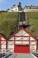 The inclined tramway at Saltburn-by-the-Sea, North Yorkshire, England, a magnificent piece of Victoriana, was built in the 1860s to transport holidaymakers from the pier to the town at the top of the cliff and is the oldest surviving working example of this type of system.