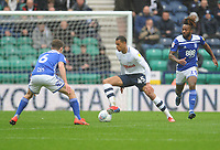 Preston North End's Lukas Nmecha under pressure from Birmingham City's Maikel Kieftenbeld<br /> <br /> Photographer Kevin Barnes/CameraSport<br /> <br /> The EFL Sky Bet Championship - Preston North End v Birmingham City - Saturday 16th March 2019 - Deepdale Stadium - Preston<br /> <br /> World Copyright &copy; 2019 CameraSport. All rights reserved. 43 Linden Ave. Countesthorpe. Leicester. England. LE8 5PG - Tel: +44 (0) 116 277 4147 - admin@camerasport.com - www.camerasport.com