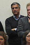 09.03.2019,  Lueneburg GER, VBL, SVG Lueneburg vs Berlin Recydling Volleys im Bild  Manager Kaweh Niroomand (Berlin) Foto © nordphoto / Witke