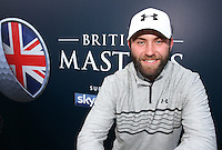 Caddie Tom Ridley overjoyed as Matthew Fitzpatrick (ENG) wins the Final Round of the British Masters 2015 supported by SkySports played on the Marquess Course at Woburn Golf Club, Little Brickhill, Milton Keynes, England.  11/10/2015. Picture: Golffile | David Lloyd<br /> <br /> All photos usage must carry mandatory copyright credit (&copy; Golffile | David Lloyd)