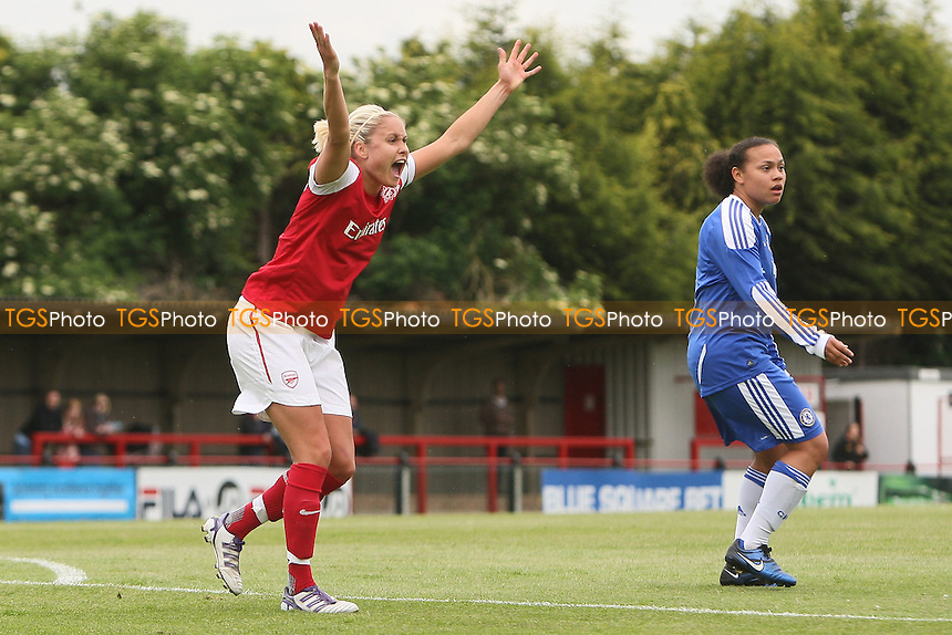 Steph Houghton appeals for a penalty - Arsenal Ladies vs Chelsea Ladies - FA Womens Super League Continental Cup Football at Boreham Wood FC - 10/06/12 - MANDATORY CREDIT: Gavin Ellis/TGSPHOTO - Self billing applies where appropriate - 0845 094 6026 - contact@tgsphoto.co.uk - NO UNPAID USE.