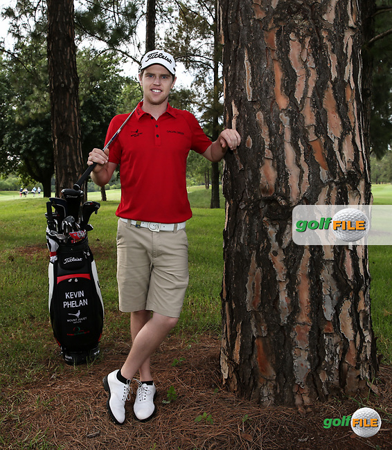 Kevin Phelan (IRL) posing amongst the trees on the 12th hole during the preview days of the 2016 Tshwane Open, played at the Pretoria Country Club, Waterkloof, Pretoria, South Africa.  10/02/2016. Picture: Golffile | David Lloyd<br /> <br /> All photos usage must carry mandatory copyright credit (&copy; Golffile | David Lloyd)