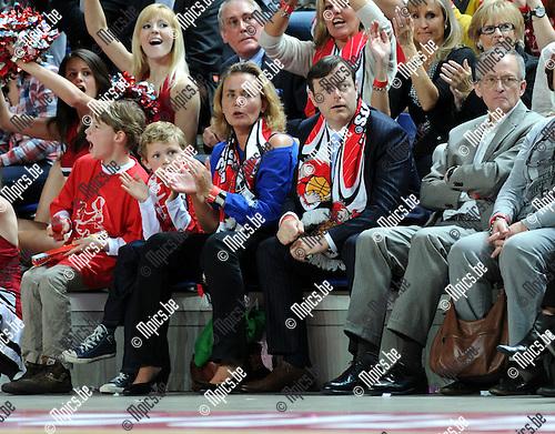 2012-04-09 / Basketbal / seizoen 2011-2012 / Finale Beker van België / okapi Aalstar - Antwerp Giants /  Liesbeth Homans en Bart de Wever..Foto: Mpics.be