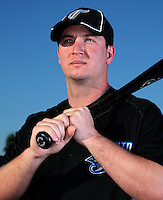 March 1, 2010:  First Baseman David Cooper (76) of the Toronto Blue Jays poses for a photo during media day at Englebert Complex in Dunedin, FL.  Photo By Mike Janes/Four Seam Images