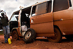 Van broken down on the Afobaka Highway between Afobaka and Paranam, Suriname.