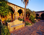 Courtyard at Mission San Juan Capistrano, the seventh mission founded in California