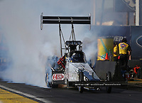 Feb. 22, 2013; Chandler, AZ, USA; NHRA top fuel dragster driver Bob Vandergriff Jr during qualifying for the Arizona Nationals at Firebird International Raceway. Mandatory Credit: Mark J. Rebilas-