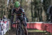 Loes Sels (BEL/Crelan Charles)<br /> <br /> <br /> women's elite race<br /> Flandriencross Hamme / Belgium 2017