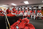 VIERA, FL-  FEBRUARY 26:  Manager Matt Williams of the Washington Nationals addresses the team after a long day of practice during  the Washington Nationals Spring Training at Space Coast Stadium in Viera, FL (Photo by Donald Miralle) *** Local Caption ***