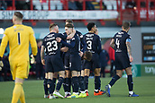 2nd February 2019, Hope CBD Stadium, Hamilton, Scotland; Ladbrokes Premiership football, Hamilton Academical versus Dundee; Scott Wright of Dundee is congratulated after scoring for 1-0 in the 68th minute by Craig Curran