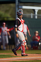 Illinois State Redbirds catcher Jean Ramirez (27) during a game against the Indiana Hoosiers on March 4, 2016 at North Charlotte Regional Park in Port Charlotte, Florida.  Indiana defeated Illinois State 14-1.  (Mike Janes/Four Seam Images)