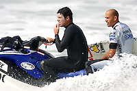 9 time ASP World Champion Floridian surfer Kelly Slater. 2009 WQS 6 Star US Open of Surfing Round of 16 in Huntington Beach, California on Saturday July 25, 2009. ....