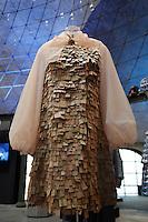Tiziano Guardini <br /> Roma 03-04-2016 Terme di Diocleziano. Mostra 'In Acqua: H2O molecole di creativita'. Decine di stilisti hanno creato, per l'occasione, abiti, accessori e gioielli che richiamano l'acqua.<br /> Diocleziano Thermae. Exhibition 'In water: H2O molecules of creativity'.Tens of famous stylists created dresses, accessories and jewels that recall water.<br /> Photo Samantha Zucchi Insidefoto