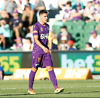 11th January 2020; HBF Park, Perth, Western Australia, Australia; A League Football, Perth Glory versus Adelaide United; Christopher Ikonomidis of the Perth Glory after he scored in the 69th minute to make the score 3-0 - Editorial Use