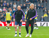 Spurs Legends Paul Gascoigne and Spurs Legends David Ginola  during the Tottenham Hotspur Legends v Inter Milan Legends during the 2nd test event at Tottenham Hotspur Stadium, High Road, London, England on 30 March 2019. Photo by Andrew Aleksiejczuk / PRiME Media Images.