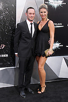NEW YORK, NY - JULY 16:  Josh Stewart and Deanna Brigidi-Stewart at 'The Dark Knight Rises' premiere at AMC Lincoln Square Theater on July 16, 2012 in New York City.  © RW/MediaPunch Inc.