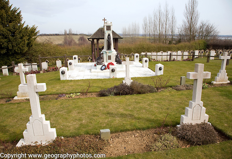 Pre 1940 Naval burial ground, this section for submariners killed in First World war, Naval cemetery, Shotley, Suffolk