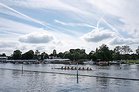 "Henley on Thames. United Kingdom.  Princeton University Women, passing the ""Hole In the WallL Monday,  27/06/2016,   16:18:38   2016 Henley Royal Regatta, Henley Reach.   [Mandatory Credit Peter Spurrier/ Intersport Images]"