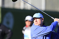 Gerrry McManus (IRL) tees off the 4th tee Sunday's Final Round of the 2018 AT&amp;T Pebble Beach Pro-Am, held on Pebble Beach Golf Course, Monterey,  California, USA. 11th February 2018.<br /> Picture: Eoin Clarke | Golffile<br /> <br /> <br /> All photos usage must carry mandatory copyright credit (&copy; Golffile | Eoin Clarke)