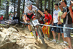27.07.2013 La Massana, Andorra. UCI Mountain Bike World Cup. Picture show  MAxime MArotte (FRA) in action during Cross-Country Final at Vallnord