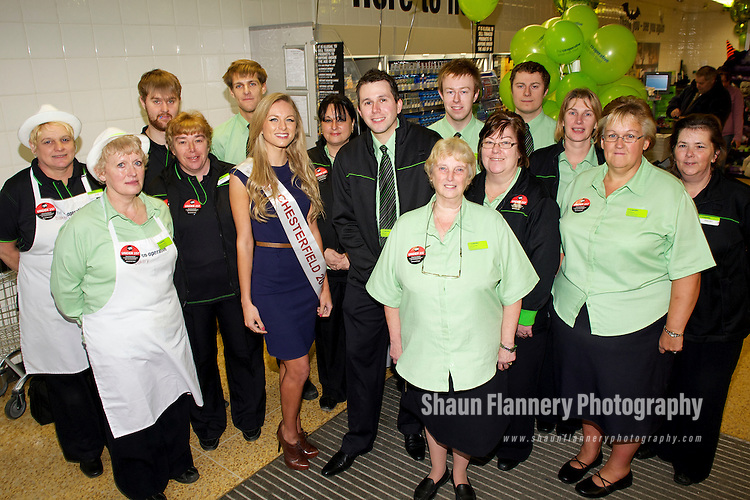Pix: Shaun Flannery/shaunflanneryphotography.com...COPYRIGHT PICTURE>>SHAUN FLANNERY>01302-570814>>07778315553>>..29th October 2010...........Re-opening of the refurbished Co-op store at North Wingfield by Miss Chesterfield,  Francesca Middleman.