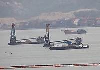 Ships working in the South China Sea, Hong Kong on 7.4.19.